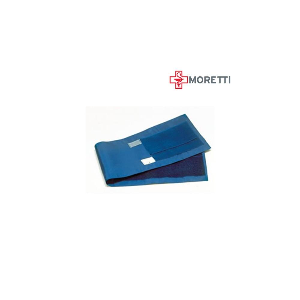 DR125 - Manseta tensiometru MORETTI cu 2 tuburi, cosciala (picior), cu scai