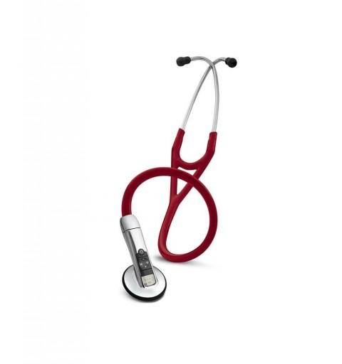 Electronic 3200 cu Bluetooth - Stetoscop 3M Littmann, 69 cm, Rosu Burgundia
