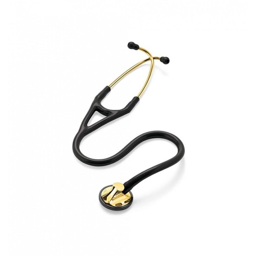 Master Cardiology - Stetoscop 3M Littmann, 69 cm, Negru, capsula alama