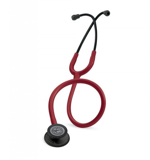 Classic III - Stetoscop 3M Littmann, 69 cm, Rosu Burgundia, capsula neagra