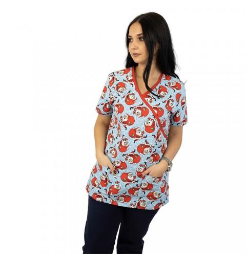 Bluza medicala imprimata,...