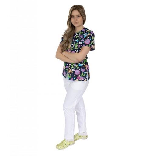Bluza imprimata asimetrica,...
